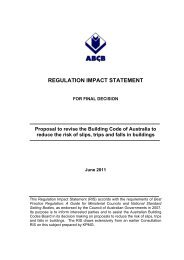 Regulation Impact Statement - Australian Building Codes Board