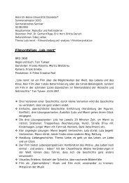 Thesenpapier Lola rennt - horn-netz.de