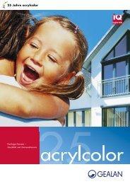 25 Jahre acrylcolor - Gealan
