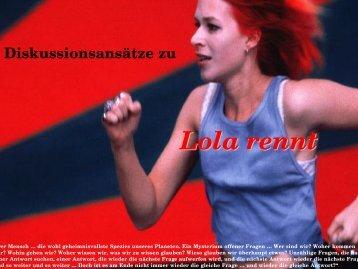 "Folien zur Diskussion zu ""Lola rennt"" - horn-netz.de"