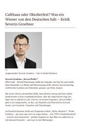 Was ein Wiener von den Deutschen hält – Kritik ... - insKabarett.com