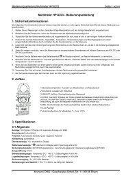 Multimeter HP-6203 Bedienungsanleitung - Komerci oHG