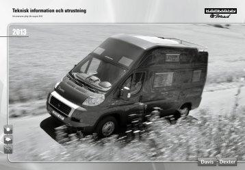 Teknisk information och utrustning - bei Karmann Mobil