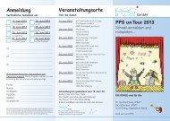 Veranstaltungsorte PPS on Tour 2013 Anmeldung - PPS GmbH