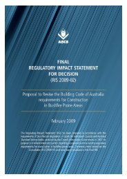 Final Regulatory Impact Statement (RIS 2009-02) - Australian ...