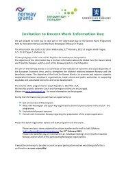 Invitation to Decent Work Information Day - Norway