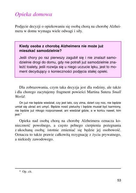 Opieka domowa - Wydawnictwo Lekarskie PZWL