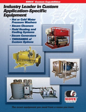 Custom Capabilities Brochure - Sioux Steam Cleaner Corporation