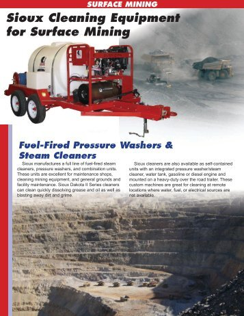 Surface Mining Application Flyer - Sioux Steam Cleaner Corporation