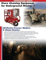 Underground Mining Application Flyer - Sioux Steam Cleaner ...
