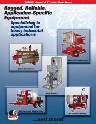 General Product Brochure - Sioux Steam Cleaner Corporation