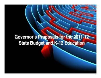 2011-12 Calif. Budget Presentation 01/25/11