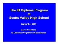 IB CAS Review - Scotts Valley Unified Schools