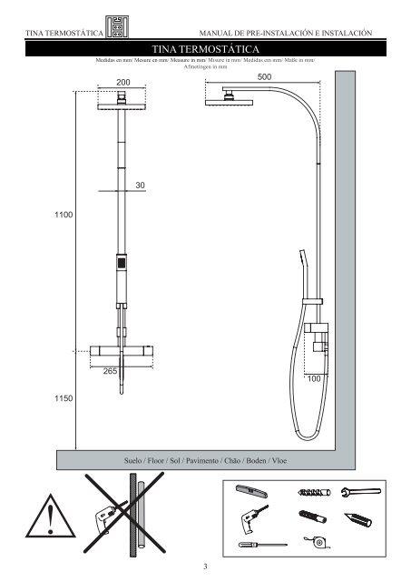 TINA TERMOSTATICA - Pre e Instalacion