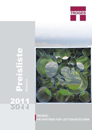 Preisliste 2011 - Troges