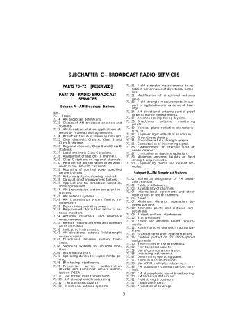 47CFR, Part 73 - Granite Island Group