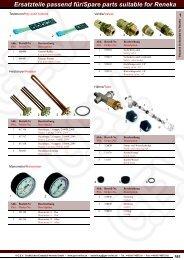 Ersatzteile passend für/Spare parts suitable for Reneka