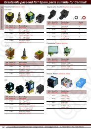 Ersatzteile passend für/ Spare parts suitable for Carimali