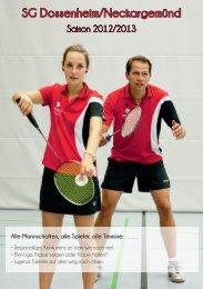 Saisonheft SG Dossenheim/Neckargemünd 2012/2013 (pdf-Datei)