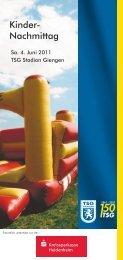 JubiCI_Flyer_Kindernachmittag-KSKcdr_web.pdf - TSG Giengen ...