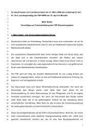 Leitantrag für ein Steuer - FDP NRW