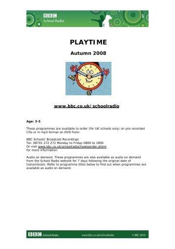 Playtime - BBC