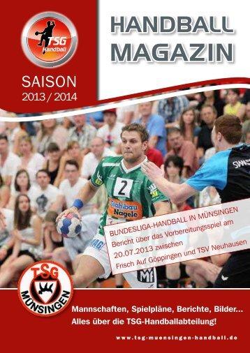 Magazin - TSG Münsingen Handball