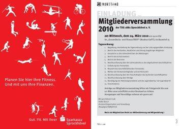 EINLADUNGzur Mitgliederversammlung 2010 - TSG 1881 ...