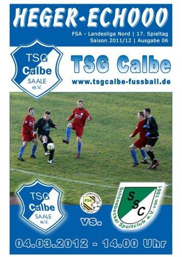 Programmheft-TSG-SSC - TSG Calbe/Saale