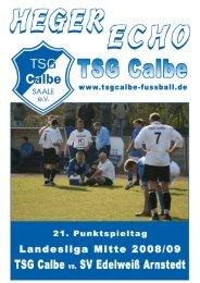 TSG Calbe - Edelweiss Arnstedt - TSG Calbe/Saale