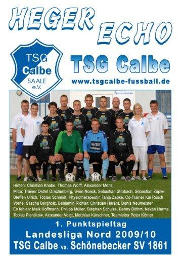 Programmheft 1. Auflage 09_10 - TSG Calbe – Fußball