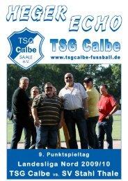 TSG - Thale - TSG Calbe/Saale