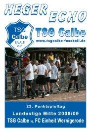 Einheit Wernigerode - TSG Calbe/Saale