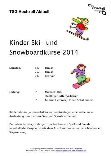 Download Flyer - TSG Augsburg-Hochzoll 1889 eV