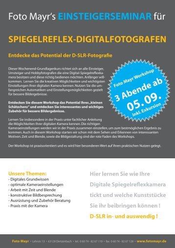 Foto Mayr's EINSTEIGERSEMINAR für - tshirtflock.de