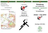 Einladung Anker – Cup 2012 - Turnerschaft Hoykenkamp e.V.