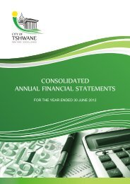 Annual Financial Statements for the year ending 30 June ... - Tshwane