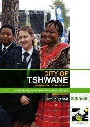 AR2005_6chap1 - City of Tshwane Metropolitan Municipality