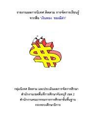 รายงานผลการนิเทศ ติดตาม การจัดการเรียนรู จา - TSI