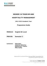 B2 - TSI-Turismo Sant Ignasi - Universitat Ramon Llull