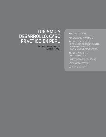 turismo y desarrollo. caso práctico en perú - TSI-Turismo Sant Ignasi