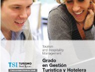 Plan de estudios - TSI-Turismo Sant Ignasi - Universitat Ramon Llull