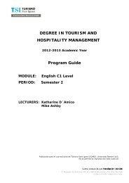 C1 - TSI-Turismo Sant Ignasi - Universitat Ramon Llull