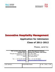 Innovative Hospitality Management - TSI-Turismo Sant Ignasi