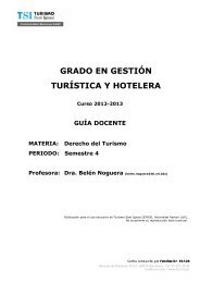 diplomatura en turismo - TSI-Turismo Sant Ignasi - Universitat ...