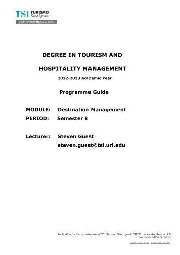 Destination Management - TSI-Turismo Sant Ignasi - Universitat ...