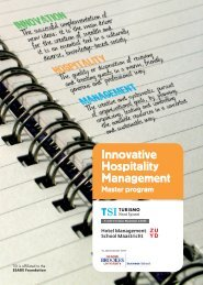 in Innovative Hospitality Management - TSI-Turismo Sant Ignasi