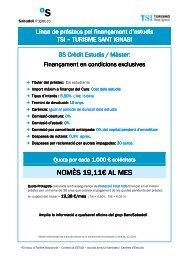 NOMÈS 19,11€ AL MES - TSI-Turismo Sant Ignasi