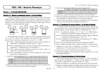 TD22 : TH5 – Machines Thermiques Machines Thermiques ...