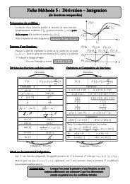 Fiche Méthode 5 - Dérivation et Intégration